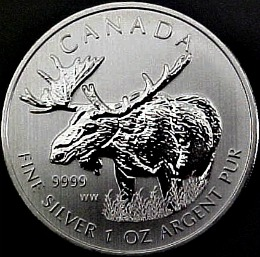 The 1oz Canadian Silver Moose Bullion Coin