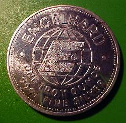 engelhard silver round
