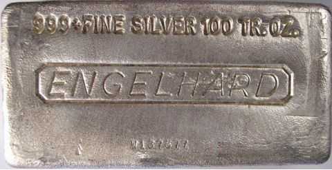 engelhard silver bar 100oz