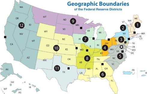 federal resrv district map