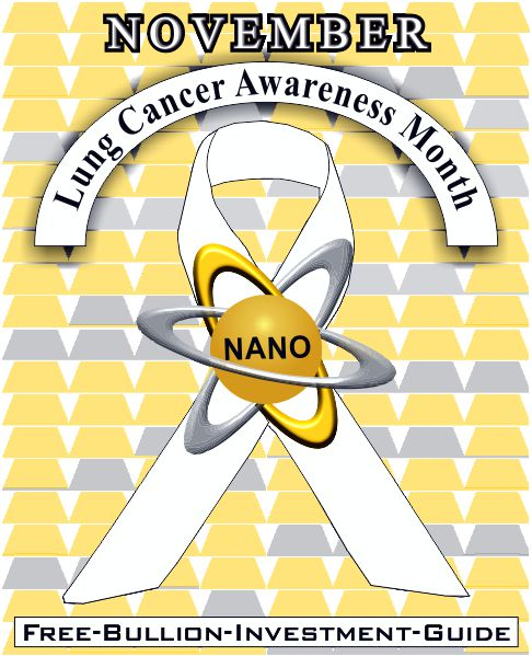 lung cancer awareness - gold nano ribbon