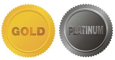 gold and platinum