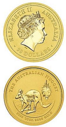 Australian Gold Nugget Bullion Coin