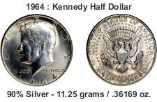 kennedy half dollar - 90%