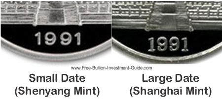 large and small dated silver pandas