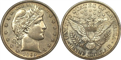 liberty head barber half dollar