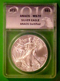 ms70 anacs silver eagle