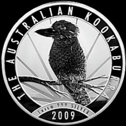 one kilo silver kookaburra