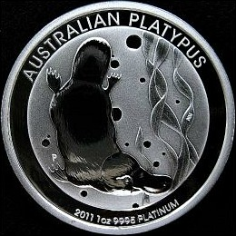 1 oz. Australian Platinum  Platypus Bullion Coin