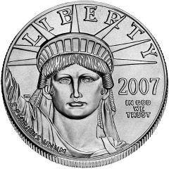 tenth oz platinum eagle - obverse