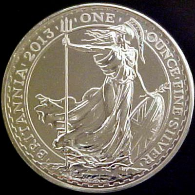 1oz Uk Britannia Silver Bullion Coin
