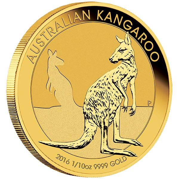tenth oz gold kangaroo