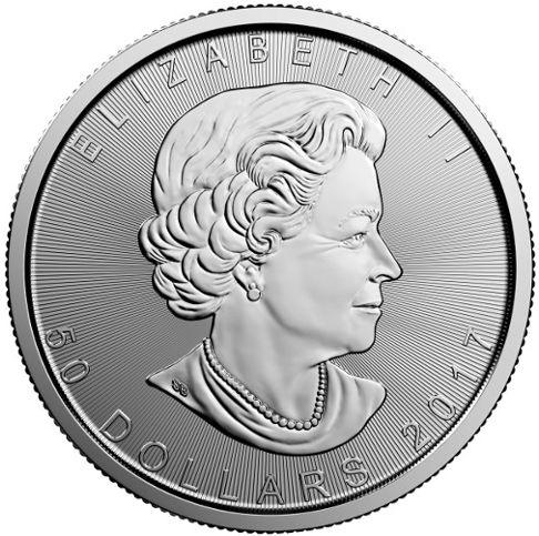 platinum mapleleaf obv