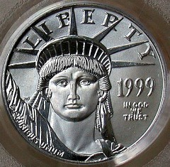 quarter oz platinum eagle - obverse
