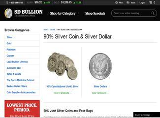 sd bullion junk silver coins