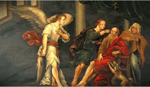 tobias father being healed