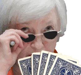 yellen holding cards