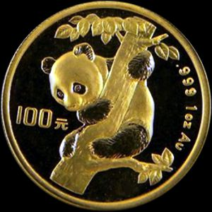 gold chinese panda