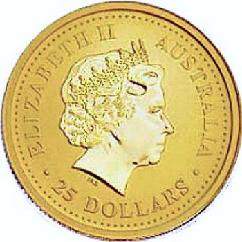 Australian Gold Lunar Bullion Coin - Series I - Obverse Side