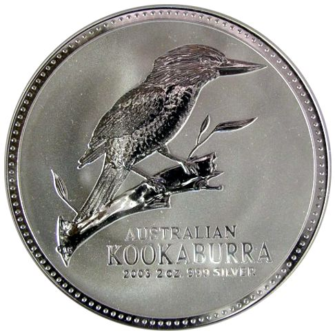 two oz silver kookaburra