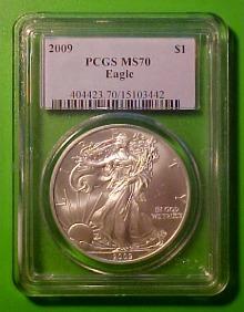 2009 graded silver eagle