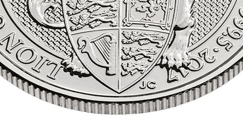Queen's Beasts platinum edge