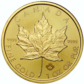 1oz  gold maple leaf rev
