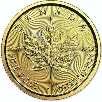 1/20th oz. Canadian Maple Leaf Bullion Coin
