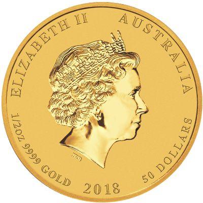 2018 - 1/2oz. Australian Lunar Gold Dog - Obverse