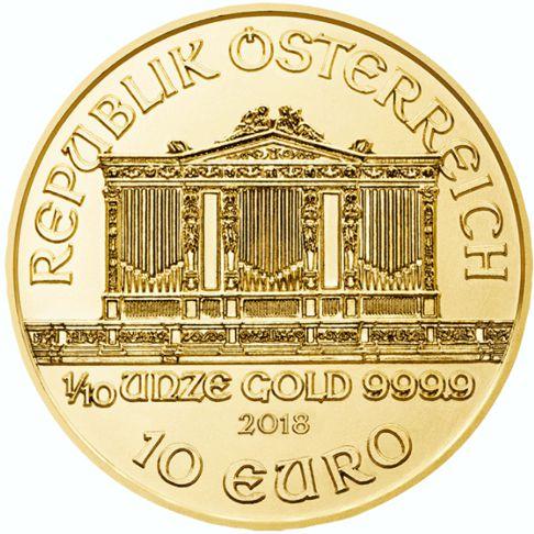 tenth oz gold philharmonic