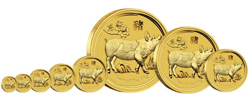 gold lunar bullion coin series