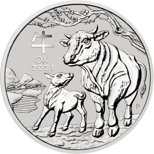 silver lunar coin