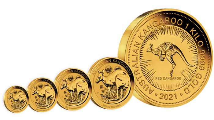 gold kangaroo bullion coin series