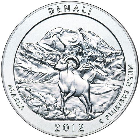 5oz silver coin denali