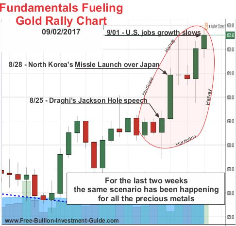 Fundamentals Fueling Gold's Rally - price chart
