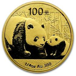1/4 oz. gold panda