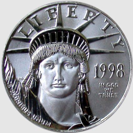 half oz platinum eagle obv