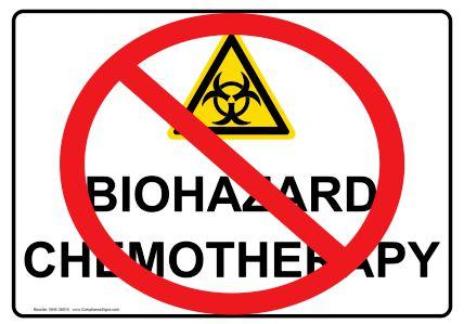 chemotherapy biohazard sign