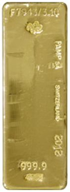 pamp 400oz gold bar