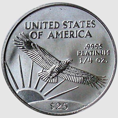 qtr oz platinum eagle rev
