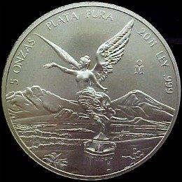 five ounce silver libertad