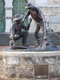 prospectors William Ford and Arthur Bayley
